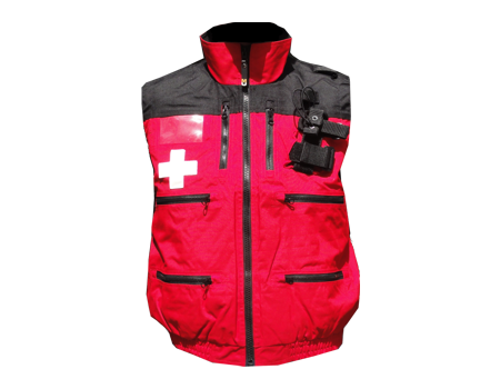 Rescue Vest w/ Elastic – Red/Black
