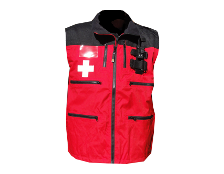 Rescue Vest w/ Shock Cord – Red/Black