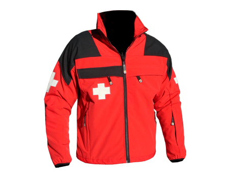 Patrol Softshell or Fleece – Red/Black