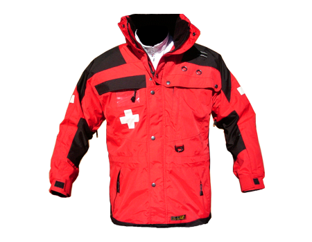 Standard Patrol Jacket, Long – Red/Black