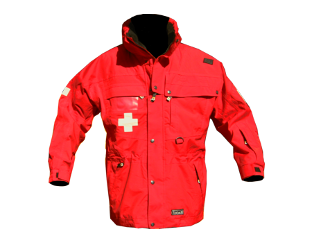 Standard Patrol Jacket, Long – Red/Red