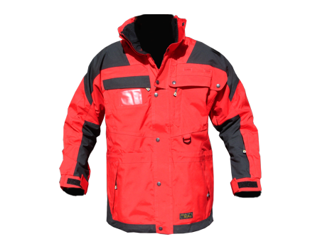 Isotherm Ops Jacket, Long – Red/Blk