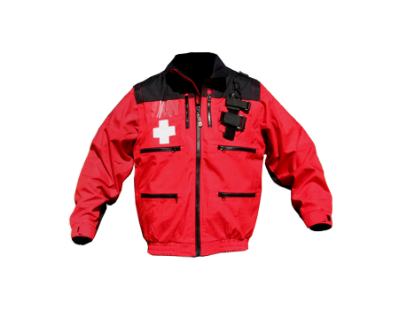 Rescue Jacket w/ Elastic – Red/Black