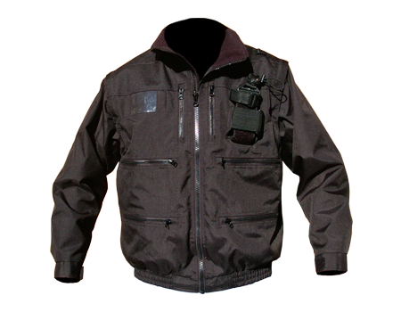 Radio Jacket w/ Elastic – Blk/Blk