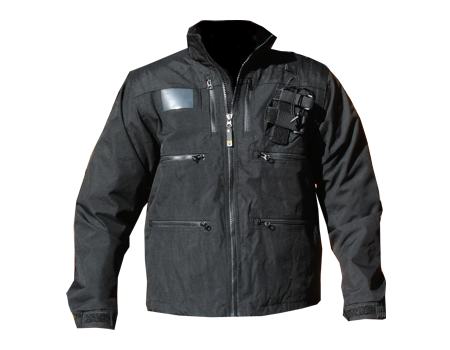 Radio Jacket w/ Shock Cord – Blk/Blk