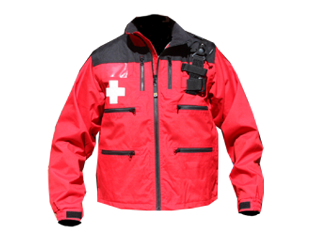 Rescue Jacket w/ Shock Cord – Red/Black