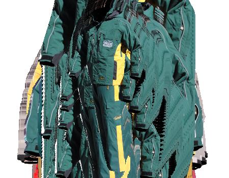 Colusa Jacket set (Greek Peak)  –  Green/Yellow
