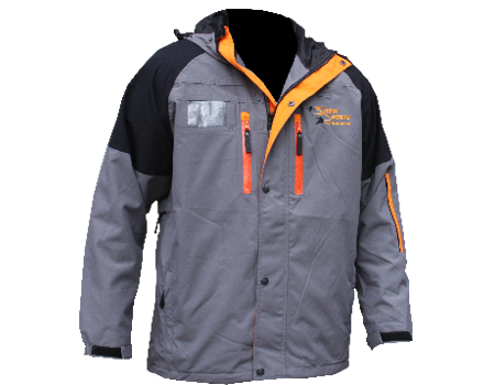 Blaster Jacket (Ski Butternut) – Seal Grey/Orange
