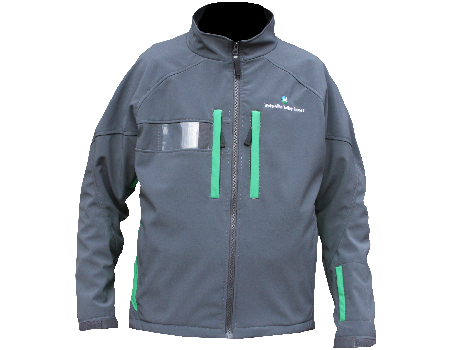 Dolomite Softshell Jacket (Waterville Valley) Charcoal/Kelly Green