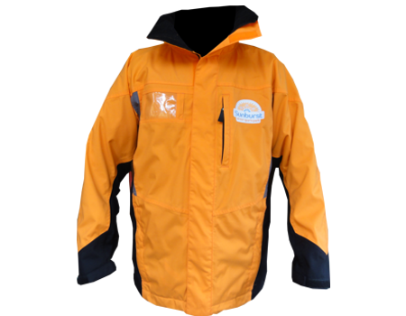 Crystal Peak Jacket (Sunburst) Tangerine/Black with Seal Grey Accents