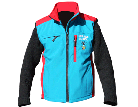 Softshell Vest (Ski Apache) Teal/Red