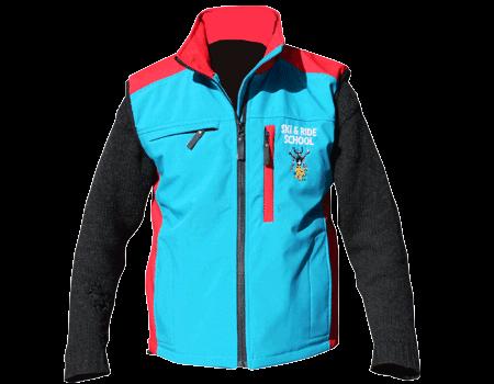 Softshell Vest (Ski Apache) Teal/Red