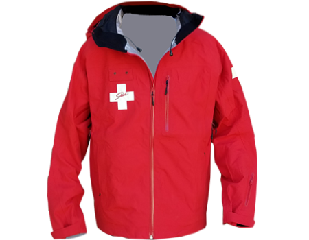 3-Layer Boundary Peak Patrol Jacket, Red w/ Crosses