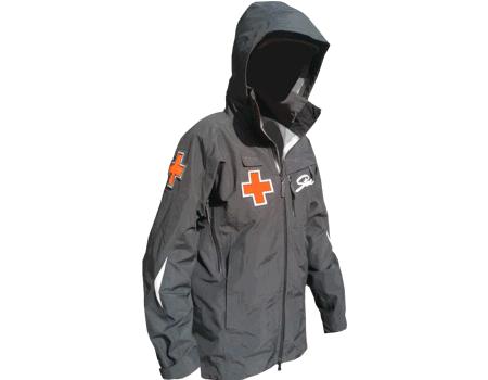 3-Layer Boundary Peak Patrol Jacket (Stowe), Black w/ Crosses