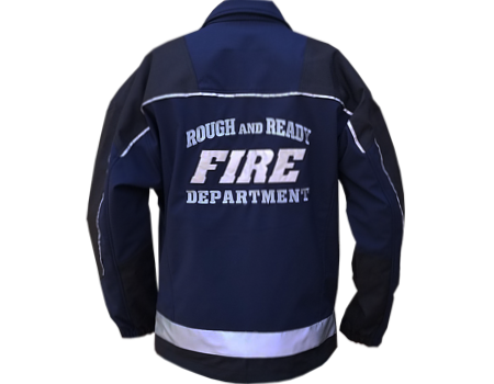 Isotherm Softshell (Rough & Ready Fire Dept) Navy/Black