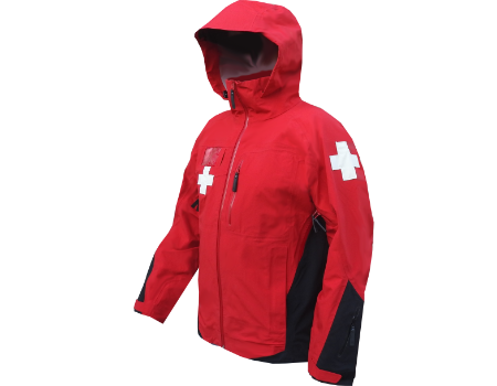 3-Layer Boundary Peak Patrol Shell, Red/Black with Crosses