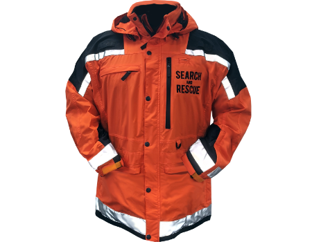Isobar Jacket (Calaveras County SAR)  –  Orange/Black w/Reflective