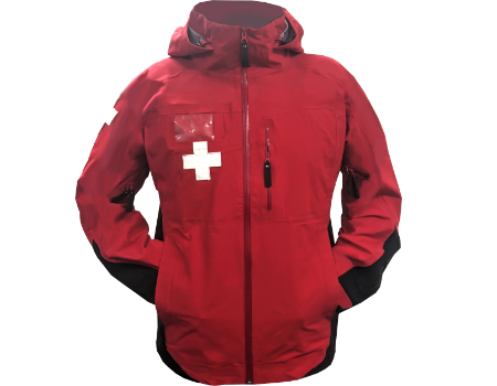 3-Layer Franconia Ski Patrol Jacket – Red/Black w/Crosses