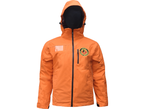 3-Layer Boundary Peak Jacket  (Holimont Adaptive) – Tangerine/Plaid