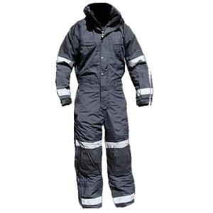 Cold-weather Insulated Jumpsuit, Black/Black, Tall, with reflective