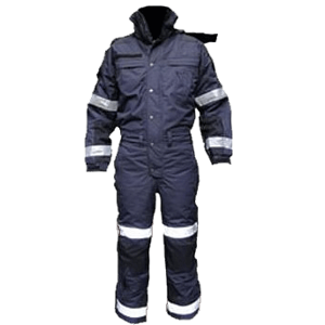 Cold-weather Insulated Jumpsuit, Midnight Blue, Regular, with reflective