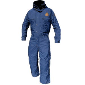 Cold-weather Jumpsuit - CHP Blue, Tall, with Patches