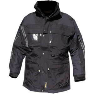 004OPs Jacket, Long, Black, with Reflective