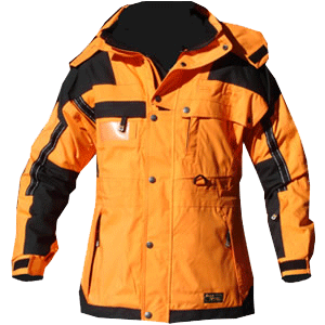 Ops Jacket, Tangerine/Black, with reflective
