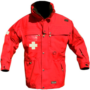 Patrol Jacket, Long, all Red, with Crosses..