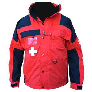 Patrol Jacket, Mid, Red/Black with Crosses