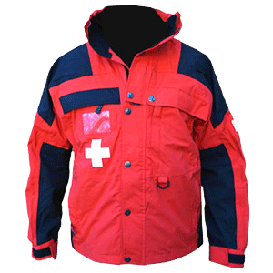 Patrol Jacket, Mid, Red/Black with Crosses
