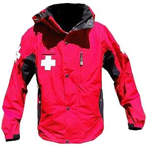 Dolomite Patrol Jacket, red black with crosses