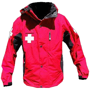 Dolomite Patrol Jacket, red black with crosses