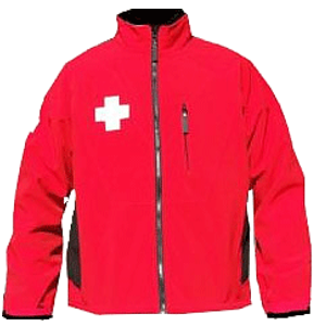 Dolomite patrol softshell, red/blk with crosses