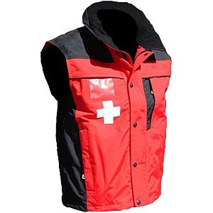 10-20 Patrol,Vest Red/Black with Crosses..