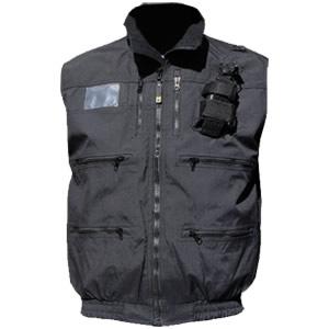 """Radio Vest, Black, 2"""" elastic band waist"""