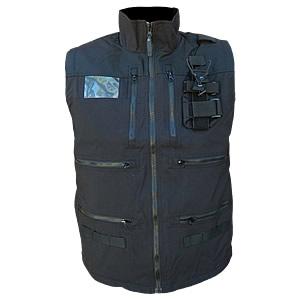 Radio Vest, Black with Shock Cord waist