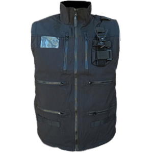Radio Vest, Black with Shock Cord waist