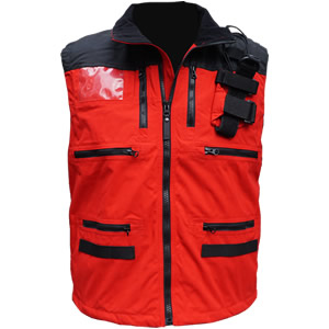 Rescue Vest, Red/Black without Crosses..