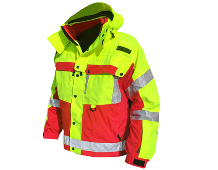 Isotherm 3-Season Jacket (Crosby Fire) Safety Yellow/Red