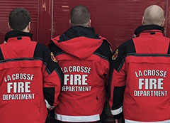 fire crew in uniforms
